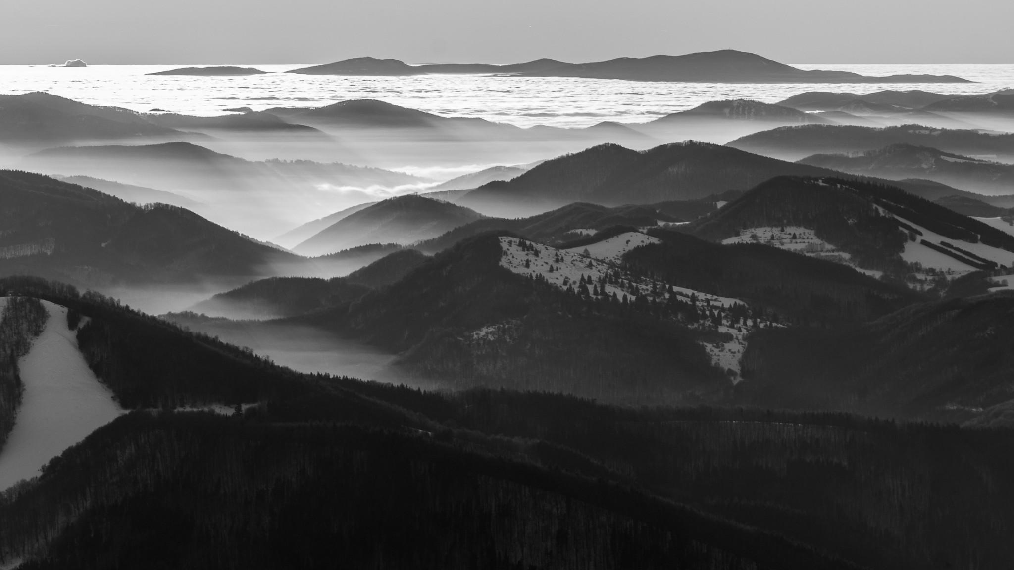 Strážovské vrchy z Kľaku
